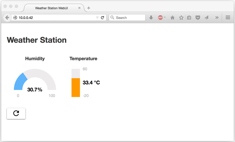 Weather Station Web UI