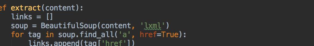 Extracting URLs with Python